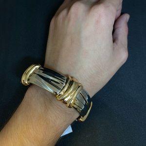 Costume jewelry - SILVER & GOLD CUFF